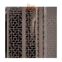 China Decorative Solid Wood Lattice Panel For Hotel Guest Room 2 Years Gurantee wholesale