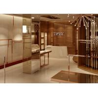 Quality Lady Apparel Showroom Retail Clothing Fixtures Rose Gold Stainless Steel for sale