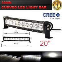 China Single Row 20-Inch 9000lm 100W  Curved Cree LED Offroad Light Bar 4WD Boat UTE Driving ATV wholesale