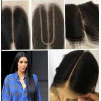 China 8 Inch Real Indian Human Hair Weave For Beauty / Kim K Closure Hair Extensions wholesale