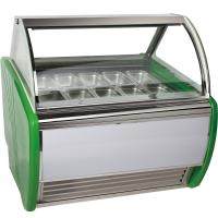 China Stainless Steel 16 Tanks Ice Cream Display Freezer / Cooler Showcase wholesale