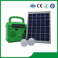 China 10w portable solar energy kits for home with phone charger, FM radio, MP3 wholesale