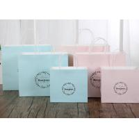 China Delicate Printed Kraft Paper Bags / Printed Paper Carrier Bags Any Color Available wholesale