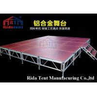China Modular Outdoor Mobile Stage , Portable Event Stages Aluminum Truss Design on sale