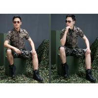 China Custom short Sleeves Military Dress Uniforms Army Camouflage Clothing on sale