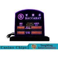 China Baccarat Table Games Dedicated LED Electronic Table Limit Sign Casino Poker Table Bet Limit Customized Logo wholesale