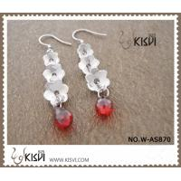 China High Quality Guarantee 925 Sterling Silver Gemstone Earrings with Zircon W-AS870 wholesale