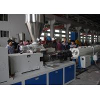 China High Capacity Plastic Pipe Extrusion Line , High Speed Extrusion Pvc Pipe Making Machine on sale