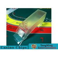 China Poker Game Necessary Casino Card Shoe Using Thick High - Density Plexiglass wholesale