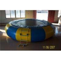 China Non - Toxic Blow Up Water Trampoline , Outdoor Inflatable Water Toys For Adults wholesale