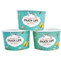 China Colourful To Go Branded Ice Cream Cups Food Grade With 6- Colour Printing wholesale