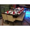 China 8 Seats Rectangle Teppanyaki table 304 stainless steel Teppanyaki Grill wholesale