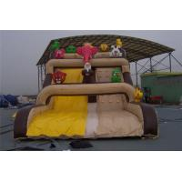 China Woderful Cartoon Inflatable Wet Slide UV Resistance For Shopping Mall wholesale