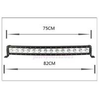 China 30-Inch 140W 12600lm Single Row Cree LED Car Light Bar Curved Offroad 4WD Boat UTE Driving ATV wholesale