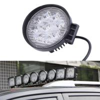 Buy cheap 27W Round Vehicle LED Work Lights DC 9-30V 1620 Lm Lumens , Stainless Steel Bracket from wholesalers