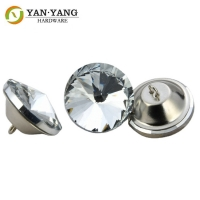 China wholesale diamond glass sofa button crystal buttons for furniture wholesale