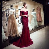 Buy cheap Autumn Long Length Ladies Evening Dresses , Off Shoulder Ladies Evening Wear For from wholesalers
