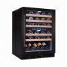 Buy cheap 45-bottle Capacity Dual Zone Wine Cooler/Chiller/Fridge, Built-in Freestanding, from wholesalers