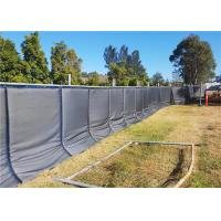 China Temporary Acoustic Fence PVC membrane layer waterproof 40dB noise reduction 800mm*2100mm for temporary fence wholesale