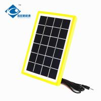 Quality 3 Watt Solar Photovoltaic Panels Max Current 0.51A ZW-3W-6V-1 mini home solar energy systems for portable solar charger for sale
