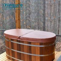 China Outdoor Whirlpool  Wooden Hot Tub Cover Indeformable Core Covers Hot Tub Covers wholesale