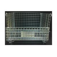 China Heavy Duty Rigid Wire Mesh Container 800KG Loading Capacity Foldable Type wholesale