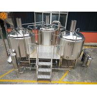 China Steam Heated brewhouse Equipment 1000L Rock Wool / PU Foam Insulation wholesale