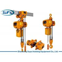 China 1 Ton - 5 Ton Overhead Electric Hoist Chain Sling Type With Mechanical Load Brake wholesale