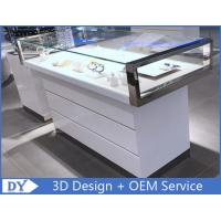 China Simple Nice Wooden Glass  Gloss White Jewellery Shop Counter wholesale
