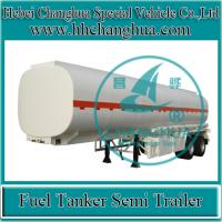 China Steel Tanker Trailer 3 axle 50cbm Semi-trailer Fuel Tanker for sale wholesale