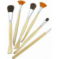 China Synthetic & Wool & Mixture Hair Artist Painting Brushes Set Aluminium Ferrule Handle wholesale