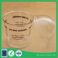 China transparent plastic disposable Ice Cream Cups with lids 180 ml on sale