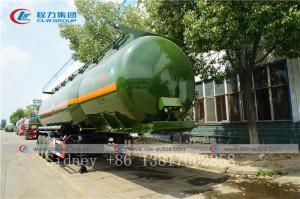 China 3 Axle 36cbm chemicals Liquid Ammonia Transport Tanker Semi Trailer for Sale wholesale