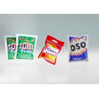 China Anti - Counterfeit 3 Side Seal Flat Pouch For Washing Powder With Tear North wholesale