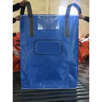 China Blue Sift - Proofing  Big Bag FIBC PP Woven Circular Jumbo Bags With Square Bottom wholesale