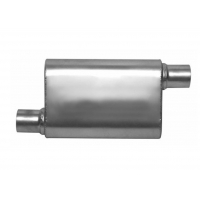 China Performance 4 In. X 9 In. SS409 Oval Exhaust Muffler wholesale