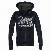 China Men's Hooded Jacket, Made of 100% Cotton Brushed Fleece on sale