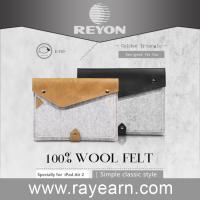 China leather wool felt sleeve for laptop ,laptop sleeve with pocket on sale