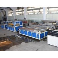 China Double - Screw PVC Wood Plastic Board Production Line For Window Profile wholesale