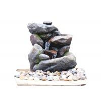 Buy cheap Outdoor Rock Water Fountains , Stone Waterfall Fountain With Cement Material product