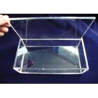 China Crystal Acrylic Storage Boxes , Clear Perspex Jewelry Display Box wholesale