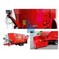 China Hay Grinder Mixer Feed Trailer With Auger And Electronic Weighting System wholesale