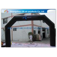 China Black Custom Inflatable Arch For Advertisement /  PVC Blow Up Arch wholesale