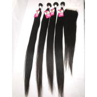 """China 8""""-30"""" Peruvian Human Hair Weave / Unprocessed Real Straight Hair Extensions wholesale"""