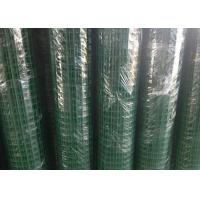 China Green Hole PVC Wire Mesh Fence Panels Spot Welding For Highway / Warehouse wholesale