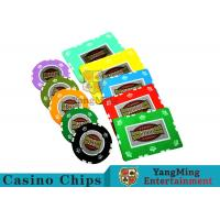 China UV Anti - Fake RFID Casino Chips Customized Multi - Color With Number Stickers wholesale
