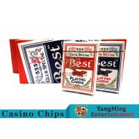 China 100 Gsm Casino Playing Cards With s Dorsal Striatum With Blue Core Paper wholesale