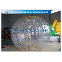 China Funny Transparent Inflatable Bumper Ball , Inflatable Grass Zorb Ball For Adults wholesale