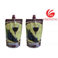 China Food Grade Self Standing Spouted Plastic Pouches For Liquids Wine on sale
