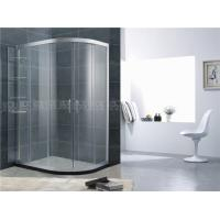China Movable Shelf D Shaped Glass Shower Door Sand Silver Aluminum Alloy For Apartment wholesale